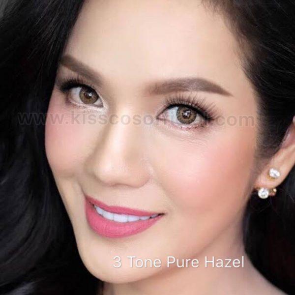 3 Tone Pure Hazel Color Contact Lens Kiss Cosmetics